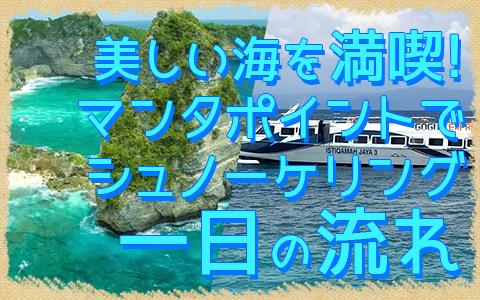 バリ島 厳選レンボンガン島 感動の出会い マンタポイントでマンタと一緒にシュノーケリング 一日の流れ