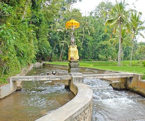 ギャニアール県のパクリサン河川流域