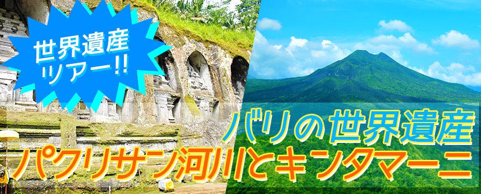 バリ島 厳選オプショナルツアー バリの世界遺産 パクリサン河川とキンタマーニツアー