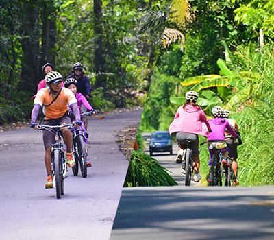 バリ島 厳選アクティビティ ソベック サイクリング 画像