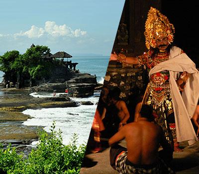 バリ島 厳選オプショナルツアー 激安 タナロット寺院でケチャックダンス+ディナー 画像