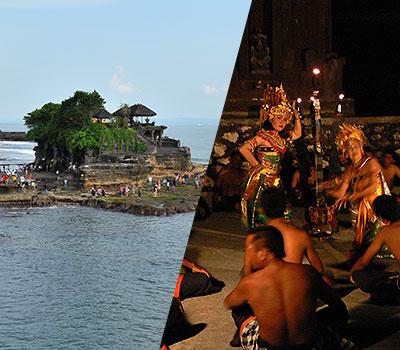 バリ島 厳選オプショナルツアー 激安 タナロット寺院でケチャックダンス 画像