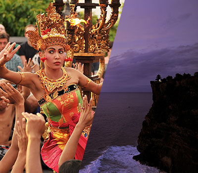 バリ島 厳選オプショナルツアー 激安 ウルワツ寺院でケチャックダンス+ディナー 画像