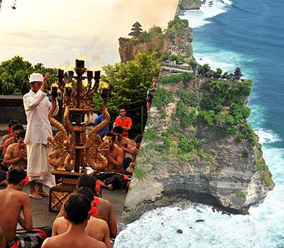 バリ島 厳選オプショナルツアー 激安 ウルワツ寺院でケチャックダンス 画像