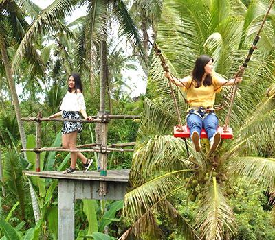 バリ島 厳選アクティビティ Uma Pakel Bali Swing 画像