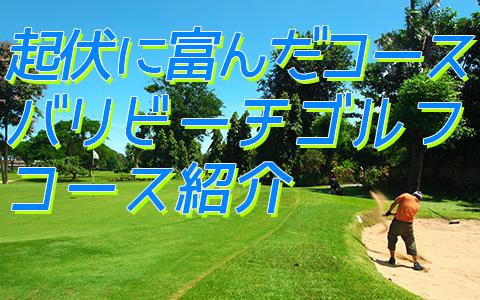 バリ島 バリ ビーチ ゴルフのメニュー