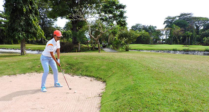 老舗ホテル内のゴルフコース