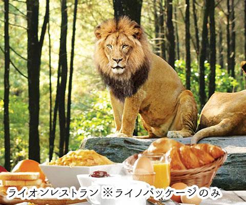 ライノパッケージに含まれるライオンレストラン
