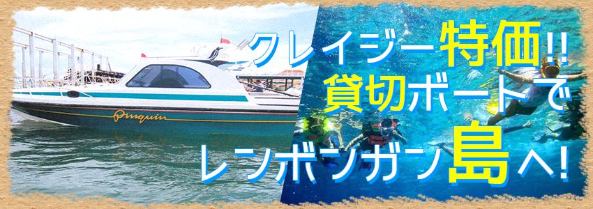 バリ島 レンボンガン島往復貸切ボート 特徴