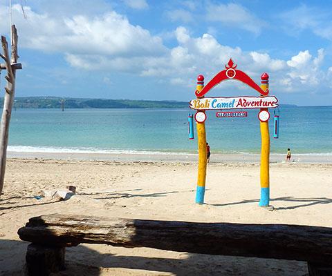 ゆったりとビーチの景色を眺めながら体験できます