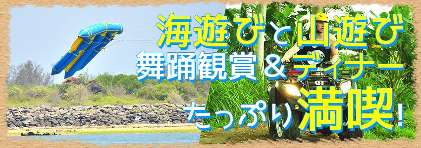 バリ島 マリンスポーツ乗り放題+ランチ食べ放題+ATV+レゴンダンス+ディナー 特徴