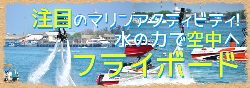 バリ島 フライボード 特徴
