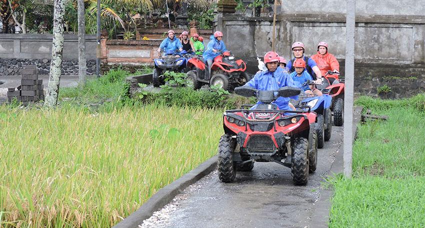 バリ島の田舎の景色を楽しめます