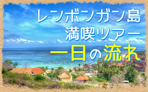 バリ島 マングローブ林とレンボンガン島まるごと一周観光ツアー 一日の流れ