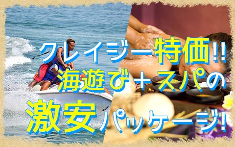 バリ島 マリンスポーツ乗り放題+ランチ食べ放題+スパ3時間 特徴