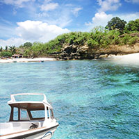 バリ島 レンボンガン島に上陸