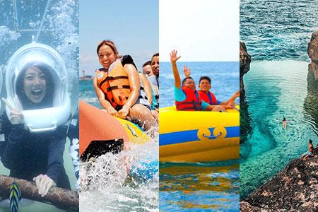 バリ島 アイランドツアー+シーウォーカー+マリンスポーツ2種類 画像