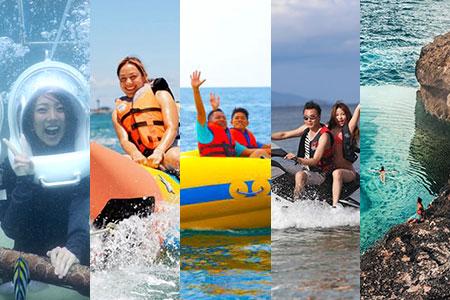 バリ島 アイランドツアー+シーウォーカー+マリンスポーツ3種類 画像