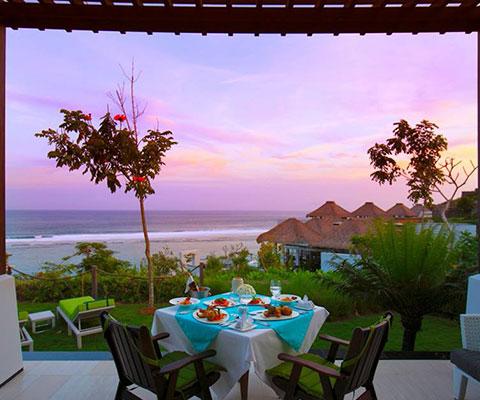バリ島 サマベ ロマンチックな時間を楽しめるガゼボ席