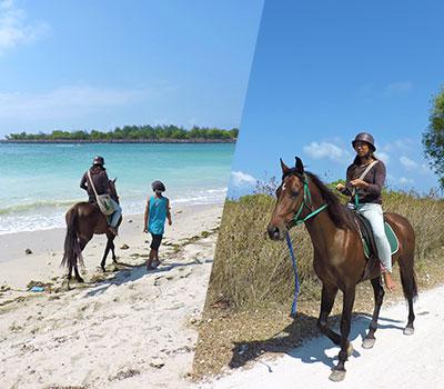 スランガンビーチ ホースライド 画像