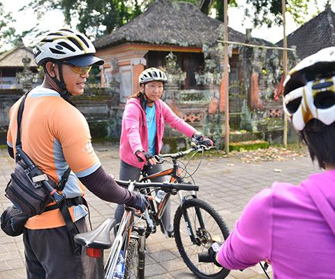 バリ島ならではの景色を楽しめるサイクリング